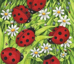 Lady Bugs Butterflies and Insects Jigsaw Puzzle