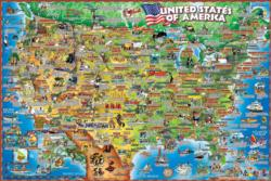 United States Illustrated Maps / Geography Jigsaw Puzzle