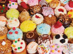 Yummy Cupcakes Pattern / Assortment Jigsaw Puzzle
