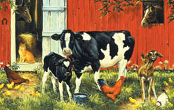Down on the Farm Cows Kids Puzzle