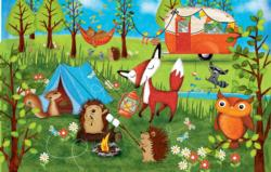Happy Campers Cartoons Jigsaw Puzzle