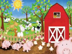 Animal Farm Cows Jigsaw Puzzle