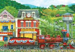 Pleasant Valley Stop Trains Jigsaw Puzzle