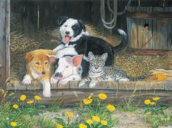 Best of Friends Farm Animals Jigsaw Puzzle
