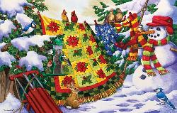 Winter Companions Snow Jigsaw Puzzle