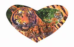 Tiger Love Tigers Shaped Puzzle