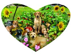Puppy Heart Baby Animals Jigsaw Puzzle