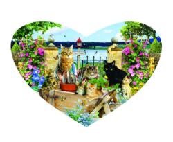 Kitty Heart Hearts Jigsaw Puzzle