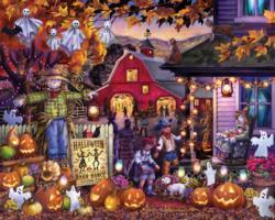 Halloween Barn Dance Halloween Jigsaw Puzzle