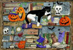 Halloween House Cat Jigsaw Puzzle Halloween Jigsaw Puzzle