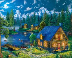 Forest Cabin Cottage / Cabin Jigsaw Puzzle