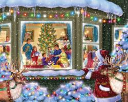Gift Giving Christmas Jigsaw Puzzle