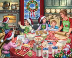 Gingerbread Party Christmas Jigsaw Puzzle