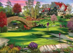 Golfer's Paradise Garden Jigsaw Puzzle