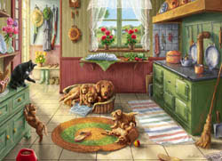 Golden Puppies - Scratch and Dent Dogs Jigsaw Puzzle