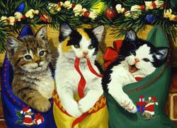 Stocking Kittens Christmas Jigsaw Puzzle