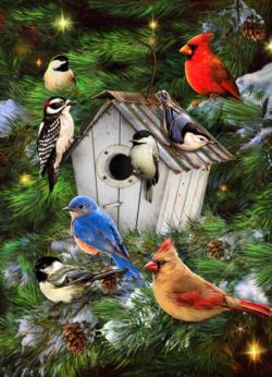 Winter Birdhouse Winter Jigsaw Puzzle