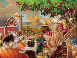 Harvest Market Hounds Thanksgiving Jigsaw Puzzle