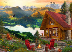 Mountain Retreat Nature Jigsaw Puzzle