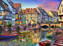 Colmar Canal Lakes / Rivers / Streams Jigsaw Puzzle