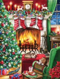 Cozy Christmas - Scratch and Dent Christmas Jigsaw Puzzle