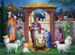 Holy Manger Christmas Jigsaw Puzzle