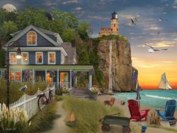 Beachside Lighthouse Seascape / Coastal Living Jigsaw Puzzle