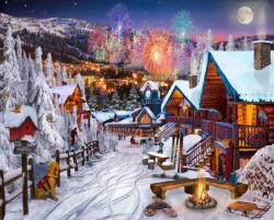 Winter Playground New Year's Eve Jigsaw Puzzle