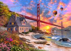 Golden Gate Sunset San Francisco Jigsaw Puzzle