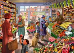 Village Grocer Shopping Jigsaw Puzzle