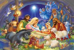 Manger Scene Religious Jigsaw Puzzle