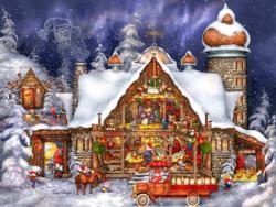Santa's Barn Christmas Jigsaw Puzzle