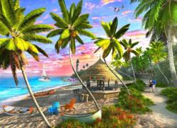 Paradise Sunset Seascape / Coastal Living Jigsaw Puzzle