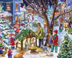 Neighborhood Nativity Christmas Jigsaw Puzzle