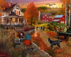 Country Inn & Farm Fall Jigsaw Puzzle