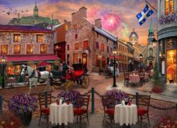 Old Montreal Sunrise / Sunset Jigsaw Puzzle