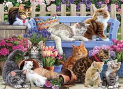 A Cat's Life Garden Jigsaw Puzzle