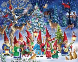 Going Gnome for Christmas Snow Jigsaw Puzzle
