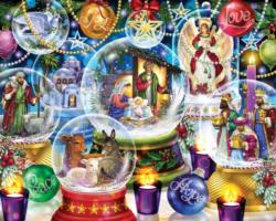 Nativity Snow Globes Christmas Jigsaw Puzzle