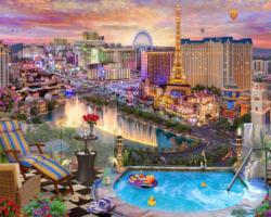 Las Vegas Twilight Las Vegas Jigsaw Puzzle