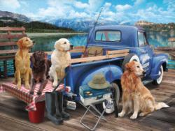 Dogs Gone Fishing Fishing Jigsaw Puzzle