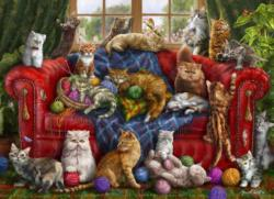 Love My Cats Domestic Scene Jigsaw Puzzle