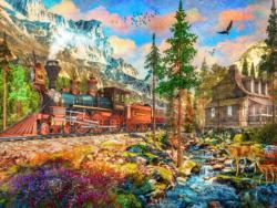 Mountain Train Trains Jigsaw Puzzle