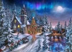 Christmas Night - Scratch and Dent Christmas Jigsaw Puzzle