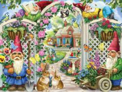 Springing Up Gnomes Garden Jigsaw Puzzle