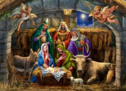 In the Manger Christmas Jigsaw Puzzle