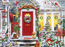 Winter Welcome  Domestic Scene Jigsaw Puzzle