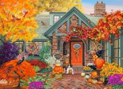 Autumn Welcome Domestic Scene Jigsaw Puzzle