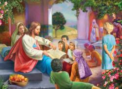 Jesus with Children  Religious Jigsaw Puzzle