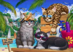 Beach Cats Cats Jigsaw Puzzle